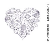 vector illustration of heart... | Shutterstock .eps vector #1356308147