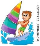 water sport theme image 1  ... | Shutterstock .eps vector #135631034