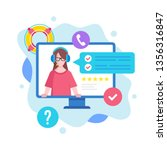 customer service concept....   Shutterstock .eps vector #1356316847