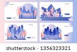 city park. screen template for...   Shutterstock .eps vector #1356323321