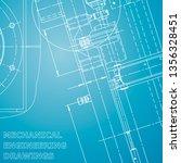 blueprint  sketch. vector... | Shutterstock .eps vector #1356328451