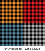 plaid fabric samples in vector | Shutterstock .eps vector #135633335