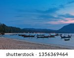 traditional thai boats near the ... | Shutterstock . vector #1356369464