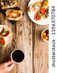 breakfast table with tasty... | Shutterstock . vector #1356370784