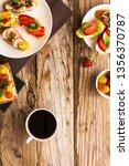 breakfast table with tasty... | Shutterstock . vector #1356370787