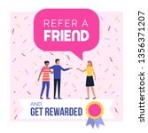 refer a friend and get rewarded ... | Shutterstock .eps vector #1356371207