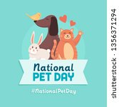 national pet day holiday social ... | Shutterstock .eps vector #1356371294