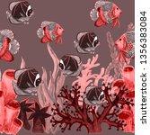 watercolor seamless pattern... | Shutterstock . vector #1356383084