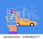 city taxi mobile service.... | Shutterstock .eps vector #1356383177