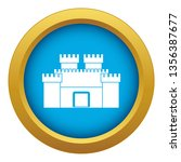 ancient fortress icon blue... | Shutterstock .eps vector #1356387677