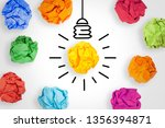 idea concepts light bulb with... | Shutterstock . vector #1356394871