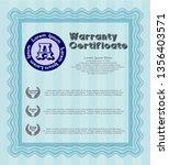 light blue vintage warranty... | Shutterstock .eps vector #1356403571