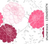 seamless abstract floral... | Shutterstock .eps vector #1356405974