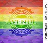 avenue lgbt colors emblem    Shutterstock .eps vector #1356410597