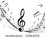 music background with different ...   Shutterstock .eps vector #13564252