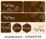 honey design with honeycomb... | Shutterstock .eps vector #135643739
