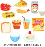 foods that increase neutral fat | Shutterstock .eps vector #1356451871
