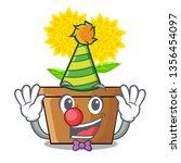 Clown Dahlia Flower In The...