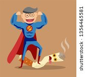 stop smoking concept   the man... | Shutterstock .eps vector #1356465581