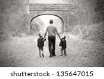 Children Walking With Their...