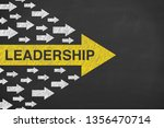 human hand drawing leadership... | Shutterstock . vector #1356470714