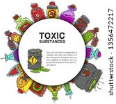 toxic substances round pattern... | Shutterstock .eps vector #1356472217