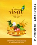 illustration of vishu festival... | Shutterstock .eps vector #1356484661