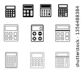 calculator icon set. math icon. ...