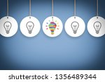 creative idea concepts with... | Shutterstock . vector #1356489344