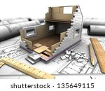 3d Illustration Of A Model Hom...