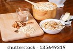 ingredients on a table to... | Shutterstock . vector #135649319