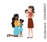 women with children avatar... | Shutterstock .eps vector #1356498437