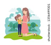 woman with daughter avatar... | Shutterstock .eps vector #1356499301