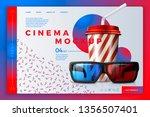 vector realistic 3d cinema site ... | Shutterstock .eps vector #1356507401