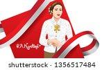 kartini day  r a kartini the... | Shutterstock .eps vector #1356517484