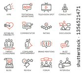 vector set of linear icons... | Shutterstock .eps vector #1356521471