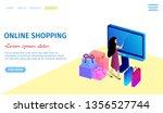 online shopping horizontal... | Shutterstock .eps vector #1356527744