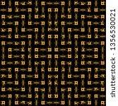 gold wavy lines pattern... | Shutterstock .eps vector #1356530021