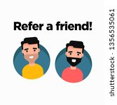 refer a friend card with two...