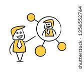 doodle stick figure businessman ... | Shutterstock .eps vector #1356552764