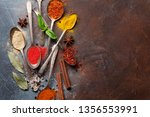 set of various spices and herbs ...   Shutterstock . vector #1356553991