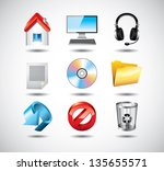 computer system icons detailed... | Shutterstock .eps vector #135655571