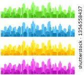 color city landscape building... | Shutterstock .eps vector #1356558437