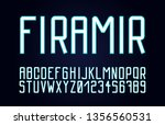 trendy font. minimalistic style ...   Shutterstock .eps vector #1356560531