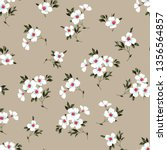 cute small floral seamless... | Shutterstock .eps vector #1356564857