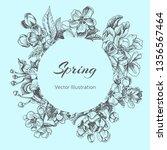 template for wedding invitation.... | Shutterstock .eps vector #1356567464