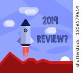 word writing text 2019 review... | Shutterstock . vector #1356579614