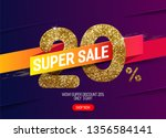 shine golden sale 20  off with... | Shutterstock .eps vector #1356584141