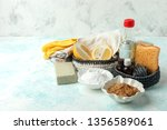 set of eco friendly natural... | Shutterstock . vector #1356589061