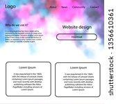 dark pink  blue vector web ui...
